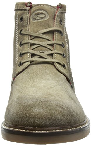 Base London Stowe, fettige Suede Taupe Stiefel Taupe