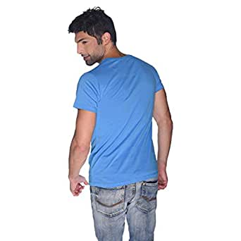 Creo Green Beard Skull T-Shirt For Men - Xl, Blue
