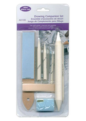 Drawing Companion Set - Tortillon Paper Stump Erasing Shield & More Colourfull Arts ART-048