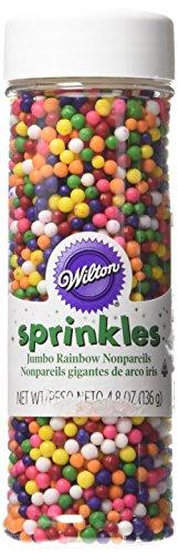 Wilton 710-033 Jumbo Rainbow Nonpareils Food Decorative