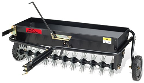 Drop Spreader Lawn (Brinly AS-40BH Tow Behind Combination Aerator Spreader, 40-Inch)