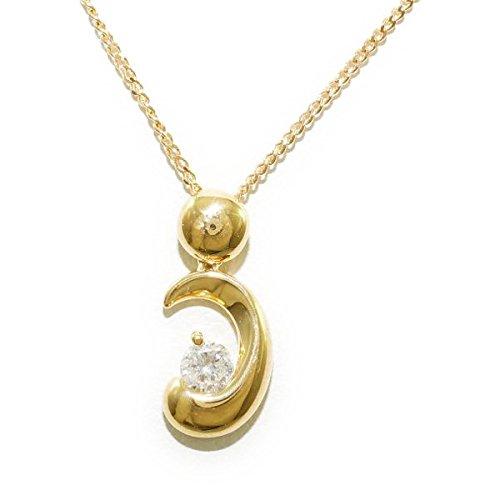 ノーブランド品 K18 18金 YG イエローゴールド ネックレス ダイヤ 0.12 [中古] B06XGYSN32