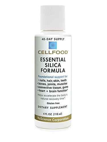 Cellfood Essential Silica Formula, 4 oz. Bottle - 40 Day Supply, Highly Effective, Contains Necessary Nutritional Co-Factors - Liquid for Superior Absorption - Gluten Free, GMO Free