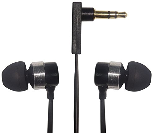 GOLINX In Ear Stereo Headphones with Flat Cable and 5 Different Size Ear Buds ()