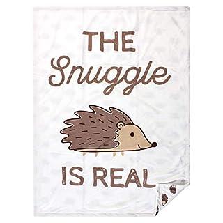 Hudson Baby Unisex Baby Plush Mink Blanket, Hedgehog, One Size