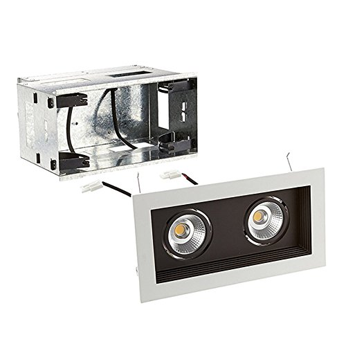 WAC Lighting MT-3LD211R-W927-BK Mini Multiple LED Two Remodel Housing with Trim and Light Engine 2700K Narrow Beam in Black, 45 Angle