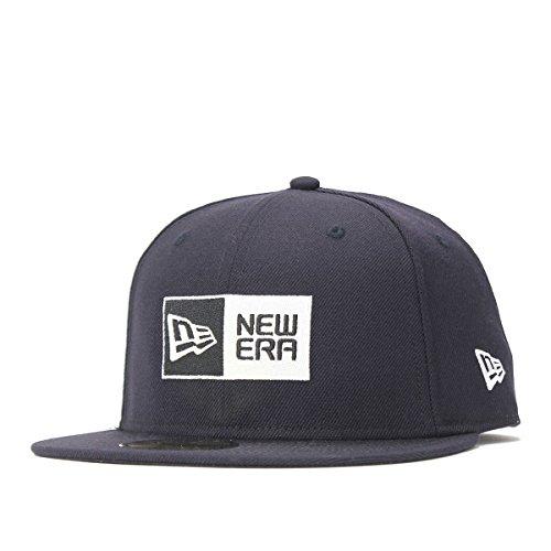 ニューエラ NEW ERA 帽子 5950 BASIC FABRICS BOX LOGO キャップ ネイビー 7 5/8