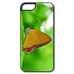 Personalized Custom Covers Geek Orange Butterfly Leaf For IPhone 5/5s