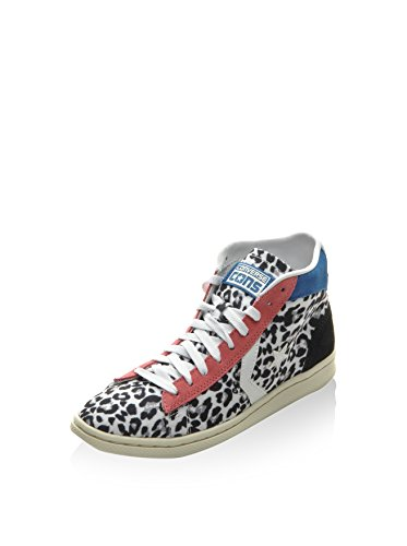 Converse Pro Leather LP Mid Canvas/Suede Print donna, tela, sneaker alta, 37 EU