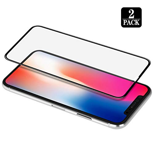 [2-Pack] Screen Protector Designed for iPhone Xs Max,Edge to Edge Coverage,Case Friendly,3D Touch,Ultra Clear,Tempered Glass Film