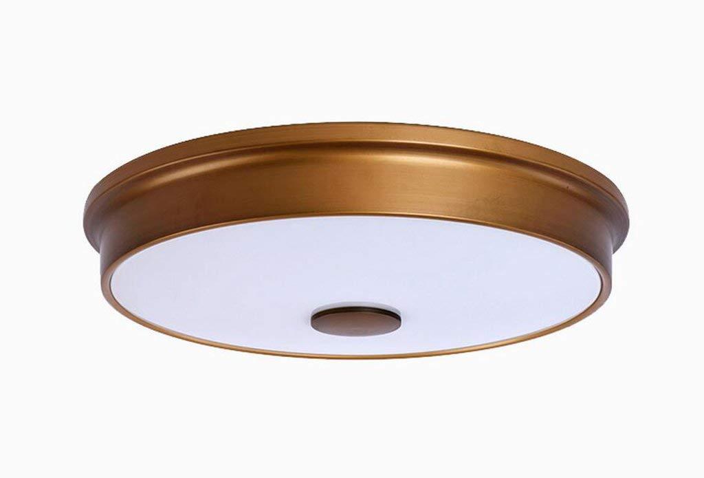 YANG Ceiling Light Ceiling Lamp European Style Bedroom Lamp Lamp Corridor Lamp Aisle Round Lamp,A-Diameter 31.5cm high 8cm