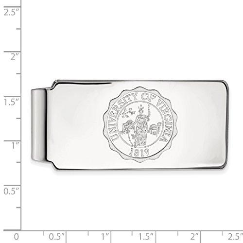Licensed Sterling Money Collegiate LogoArt of University Silver Crest Clip Official Virginia UVA qp6rpt