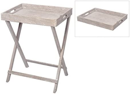 Bandeja Mesa auxiliar mesa plegable bandeja plegable gris claro ...