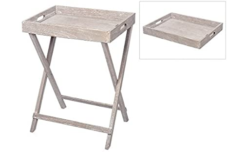 Bandeja Mesa auxiliar mesa plegable bandeja plegable gris ...