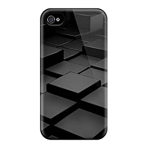 Excellent Iphone 6 Plus Cases Tpu Covers Back Skin Protector Black 3d Blocks