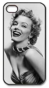 Iphone4/4S - Iphone 4 4S Case DIY - DIY Iphone 4 4S Case cover Marilyn Monroe PC Black Case-MM4SPBDX058