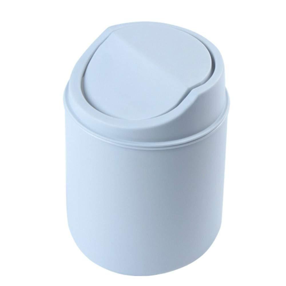 Binmer Mini Trash Can, Small Desk Recycling Trash Bin Kitchen Desktop Bathroom Office Wastebasket (Gray)