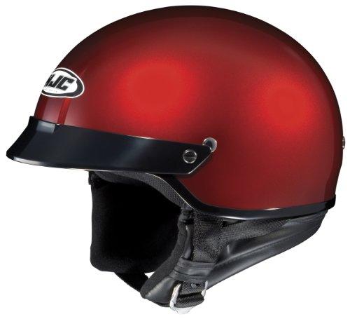 HJC CS-2N Motorcycle Half-Helmet (Wine, Large)