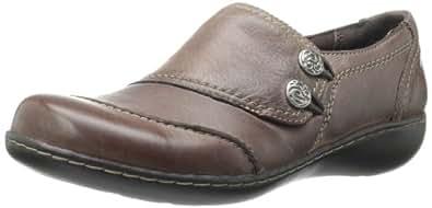 Clarks Women's Ashland Alpine Slip-On Loafer,Brown,12 W US