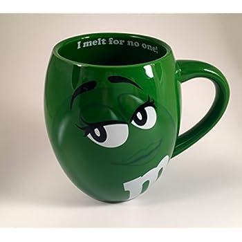 MM's Big Face Ceramic Mugs (Green) m&m m & m