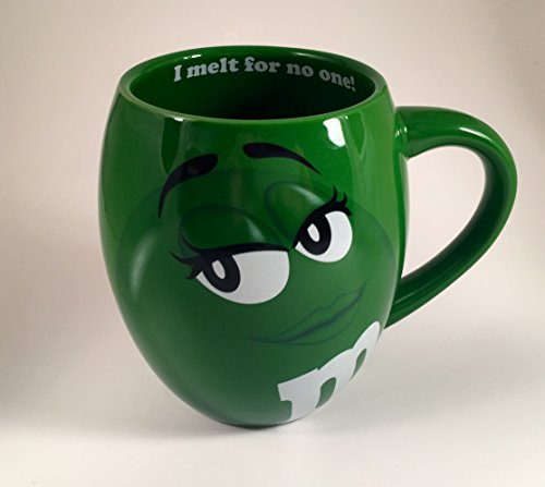 MM's Big Face Ceramic Mugs (Green) m&m m & m