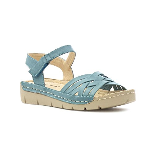 Cushion Walk Womens Teal Comfort Sandal Blue HC0JseGt