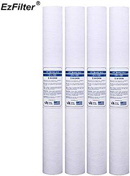 Fumak: 4 filtros de algodón PP de 20 Pulgadas, Cartucho de Filtro ...