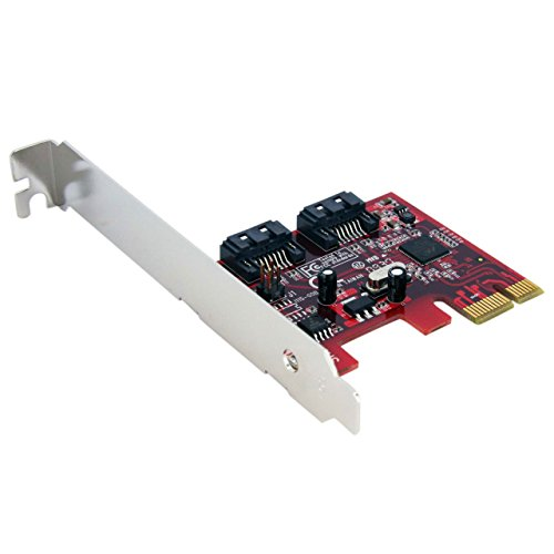 StarTech.com 2 Port SATA 6 Gbps PCI Express SATA Controller Card - Dual Port PCIe SATA III Card Adapter
