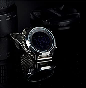 Sport Smart Watch Reloj Inteligente EX18 Reloj Deportivo 5 ATM Resistente al Agua podómetro Bluetooth 4.0 Llamadas SMS recordatorio para Android iOS: ...