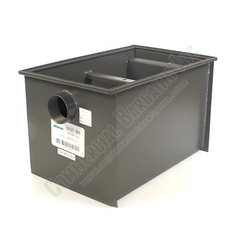 WentWorth 40 Pound Grease Trap Interceptor 20 GPM Gallons Per Minute WP-GT-20