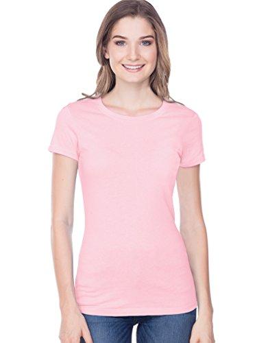 Woman Baby Doll Shirt (Kavio! Junior Baby Doll Short Sleeve Tee X-Length Baby Pink M)
