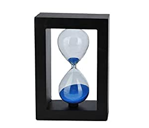 Blue Hourglass Sandglass Timer - 60 Minute Natural