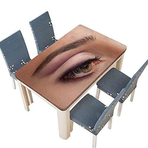 PINAFORE Indoor/Outdoor Colorful Eye Makeup to advertise Cosmetics. for Home Use, Machine Washable W25.5 x L65 INCH (Elastic Edge) -
