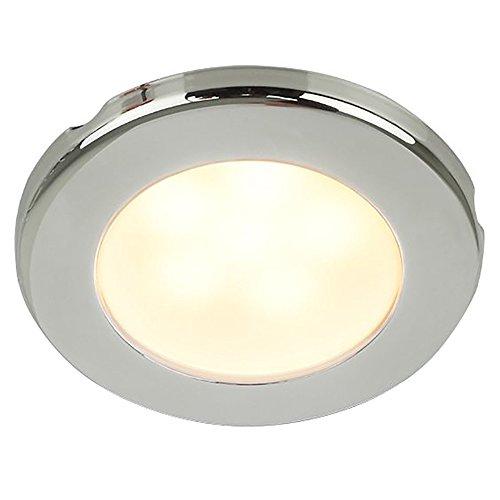 Hella 958109021 EUROLED 75 WRM WHT SS BEZ 12V SCW MNT Dome Light - 12 Ss Light