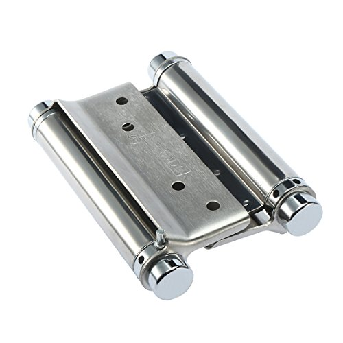 uxcell 2PCS 4 inch Double Action Spring Hinges for Saloon Cafe Swing Doors by uxcell