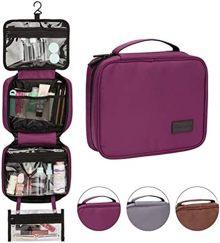 Travel Organizer Toiletry Bag with Detachable TSA Small Clear Bag for Men/Women, Hanging Toiletry Kit with Hook for Travel/Vacation/Home Hold Use