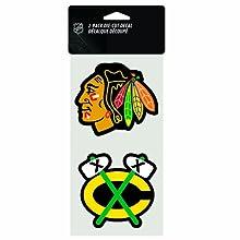 "NHL Chicago Blackhawks 2-Piece Die-Cut Decal, 4"" x 8"""
