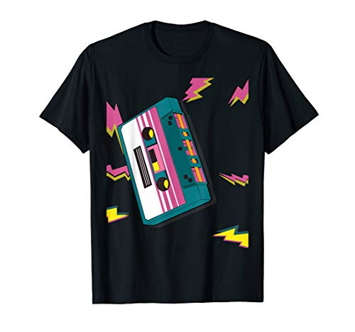 Adults or Youth 80s Lightning Bolts Cassette T-shirt