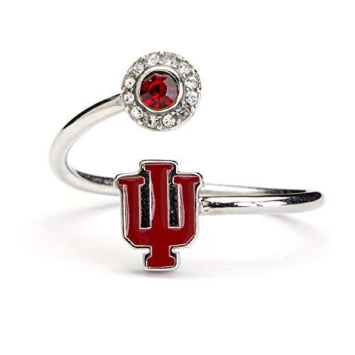 Indiana University Ring | IU Hoosiers Ring and Crystals | Officially Licensed Indiana University Jewelry