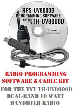 TYT TH-UV8000D/E/SE Series Two-Way Radio Programming Software & Cable Kit by RF Gear 2 Go