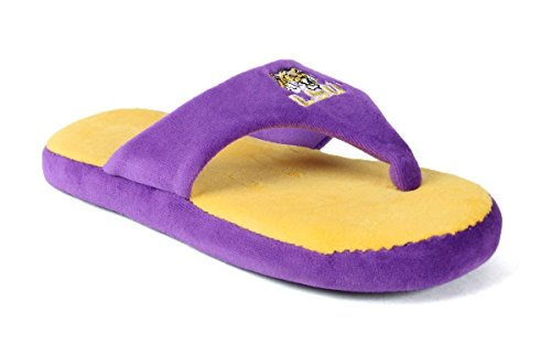 NCAA College Comfy Flop - OFFICIALLY LICENSED - Happy Feet Mens and Womens Lsu Tigers