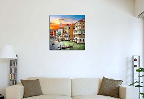 Modern-Canvas-Painting-Wall-Art-The-Picture-For-Home-Decoration-Scenic-Views-Of-Venice-Canal-Boat-Italy-Town-Landscape-Print-On-Canvas-Giclee-Artwork-For-Wall-Decor