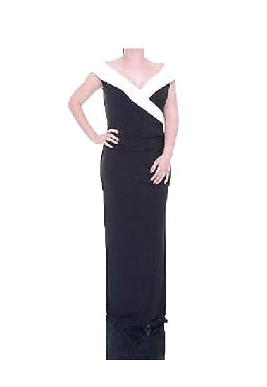 f5d84b6b3cb Lauren Ralph Lauren Satin-Trimmed Jersey Gown (Black