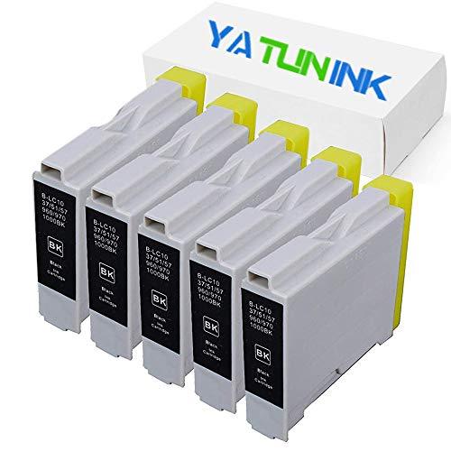 (YATUNINK Compatible Ink Cartridge Replacment for Brother LC51BK Ink Cartridge for Brother MFC-230C MFC-240C MFC-440CN MFC-465CN (5 Black))
