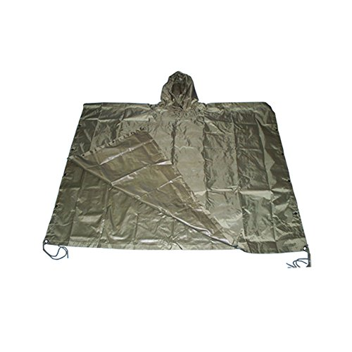 Poncho All Weather Rain Coat - OD Green (Army All Weather Coat)