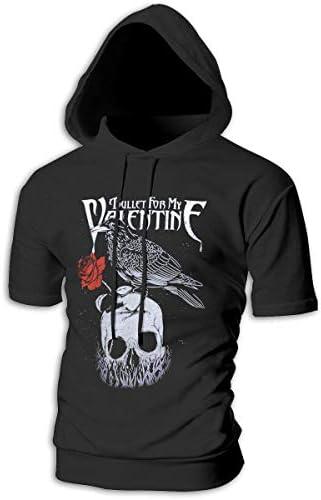 Tシャツ シャツ ティーシャツ スウェットシャツ パーカー ストレッチ メンズ 半袖 フード付き ブレット フォー マイ ヴァレンタイン スポーツtシャツ 吸汗速乾 トレーニング ジムtシャツ 通気性 黒