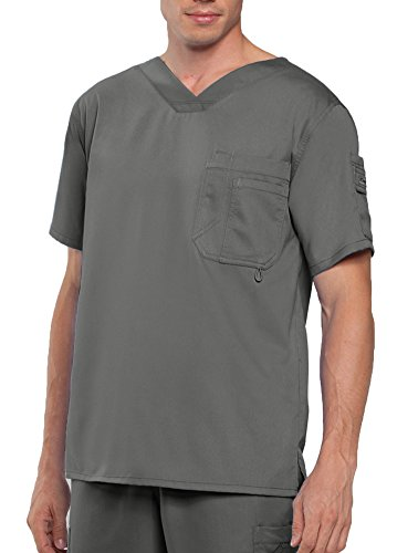 - Grey's Anatomy Men's Modern Fit V-Neck Scrub Top, New Royal, XXX-Large