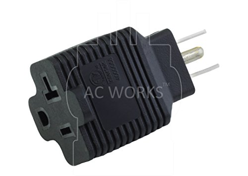 AC WORKS 15 to 20Amp 125Volt T-Blade Adapter (2PK-Compact) by AC WORKS (Image #2)