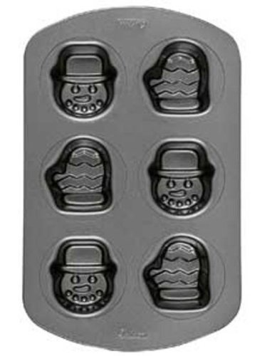 Wilton Mini Snowman (Wilton Holiday 6-Cavity Nonstick Mini Snowman and Mitten Pan)