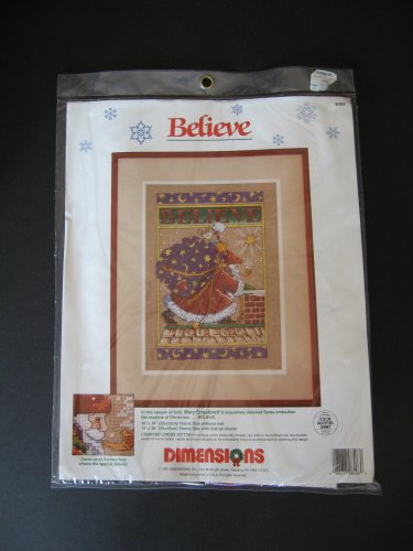 Dimensions Needlecrafts 70-08904 Believe Snowglobe Counted Cross Stitch Kit